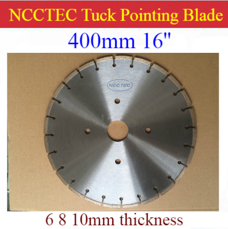 16'' NCCTEC Diamond Tuck Point Blade B16TP / 400mm Concrete Wall Tuck Pointing GROOVING Tools /5 6 8 10 15 17 20mm Thick Segment