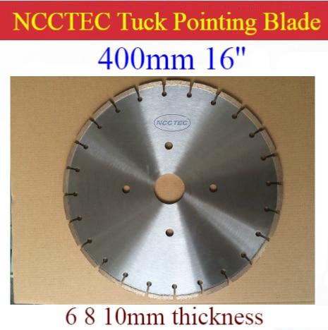 16'' NCCTEC Diamond Tuck Point Blade B16TP / 400mm Concrete Wall Tuck Pointing GROOVING Tools /5 6 8 10 15 17 20mm Thick Segment