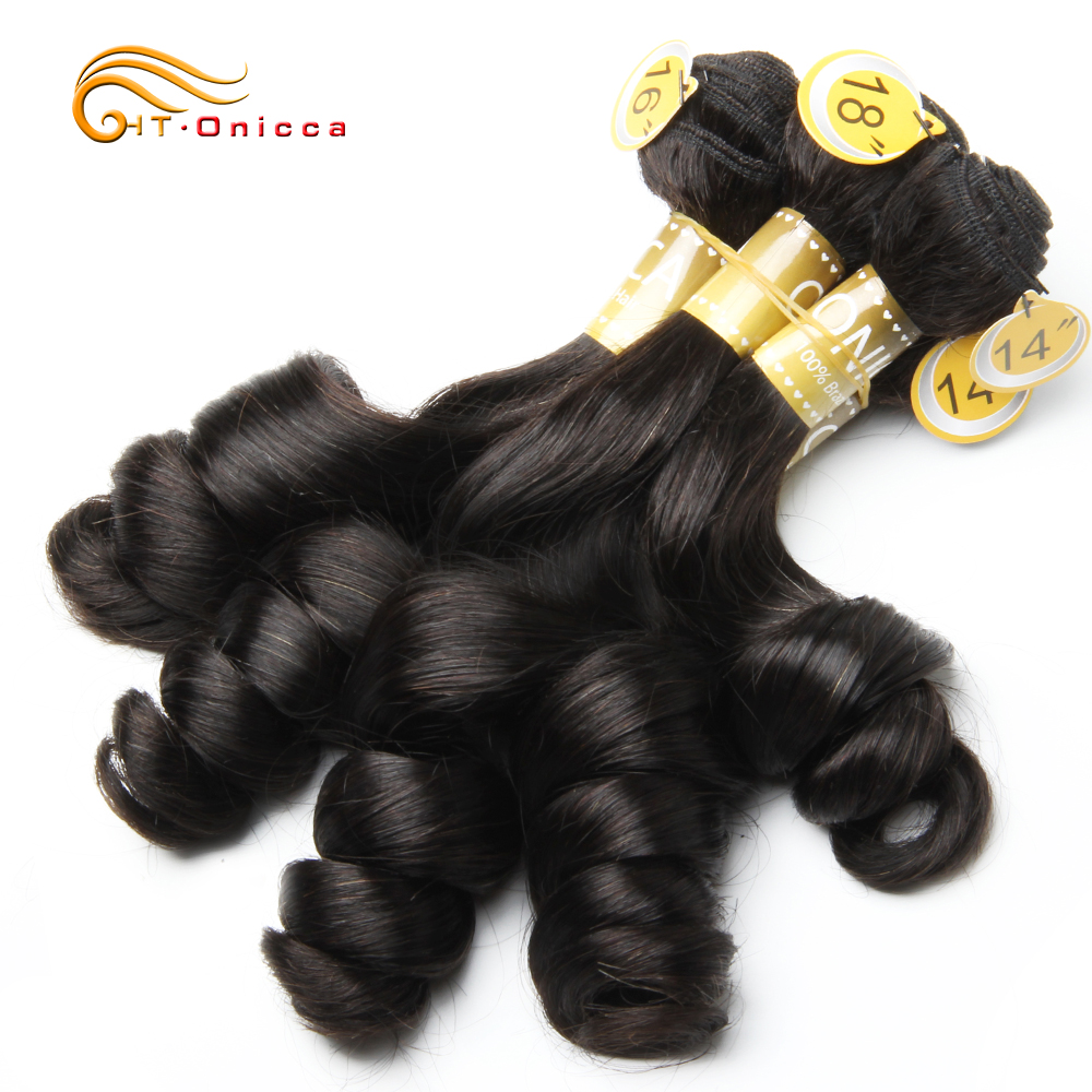 Curly Bundles 5 Pcs/Lot Peruvian Human Hair Bundles Egg Curl Hair Natural Color Human Hair Extensions For Black Women