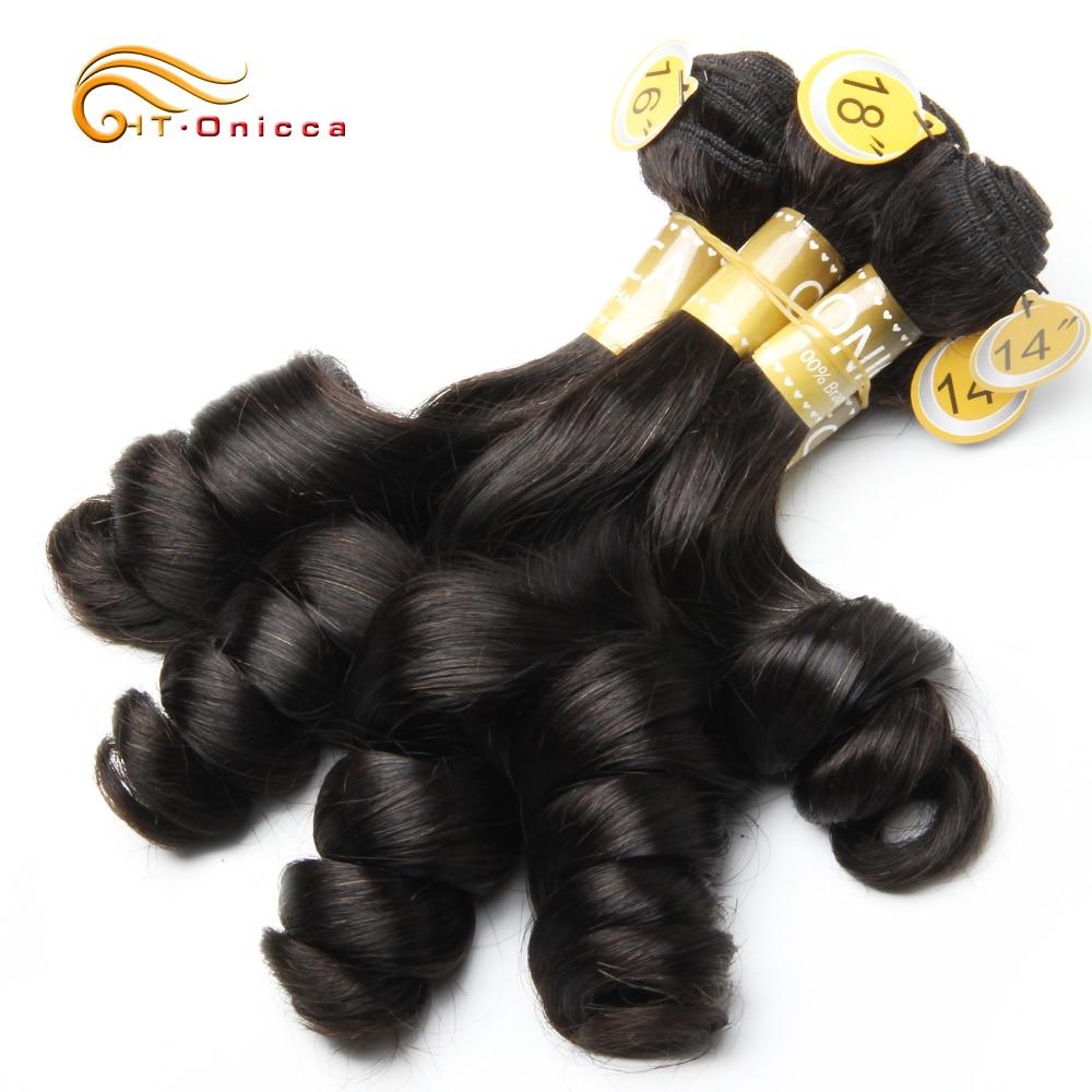 Curly Bundles 5 Pcs/Lot Peruvian Human Hair Bundles Egg Curl Hair Natural Color Human Hair Extensions For Black Women