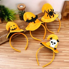 Halloween Pumpkin Headband Holiday Party Supplies Ghost Head