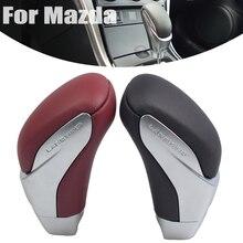 가죽 시프트 기어 노브 레버 Gaitor 자동 변속기 for Mazda 5 2008 2009 2010 2011 2012 2013 year