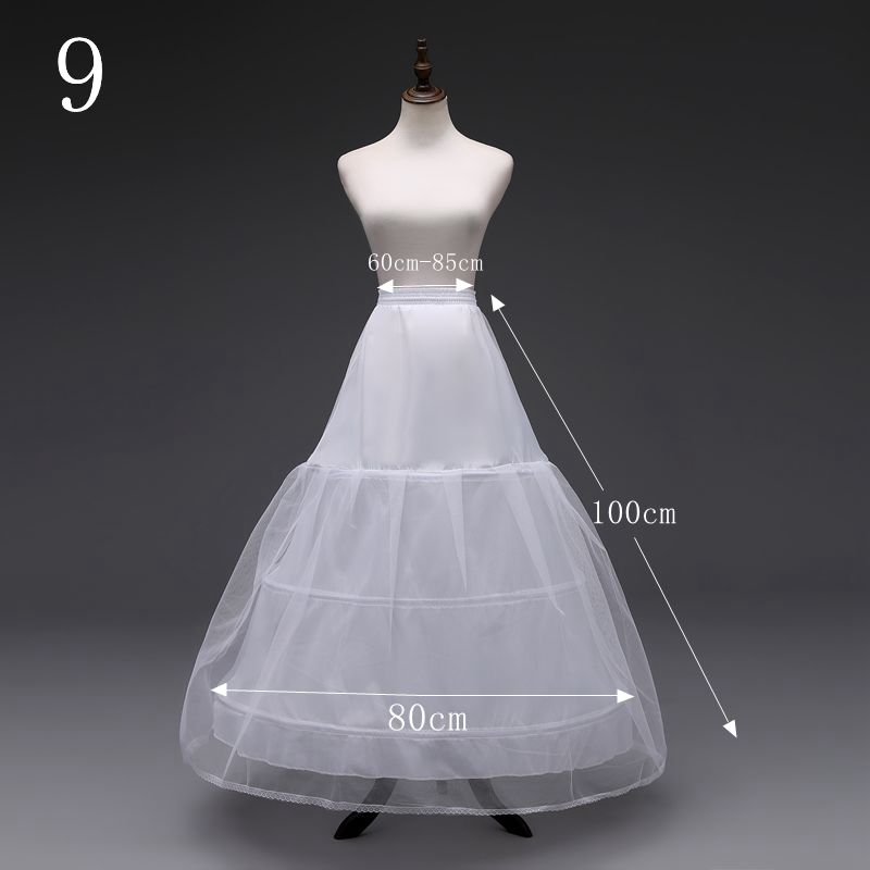 3 HOOP BRIDAL WEDDING GOWN DRESS COSTUME PROM PETTICOAT CRINOLINE SKIRT SLIP NEW