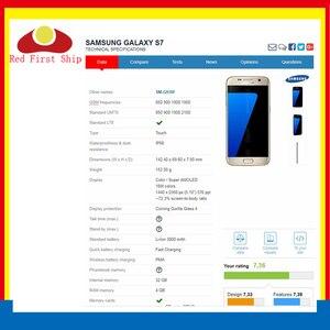 Image 2 - 10 sztuk/partia ekran dotykowy do Samsung Galaxy S7 G930 G930F SM G930F panel dotykowy przednia zewnętrzna S7 LCD wymiana szkła obiektywu