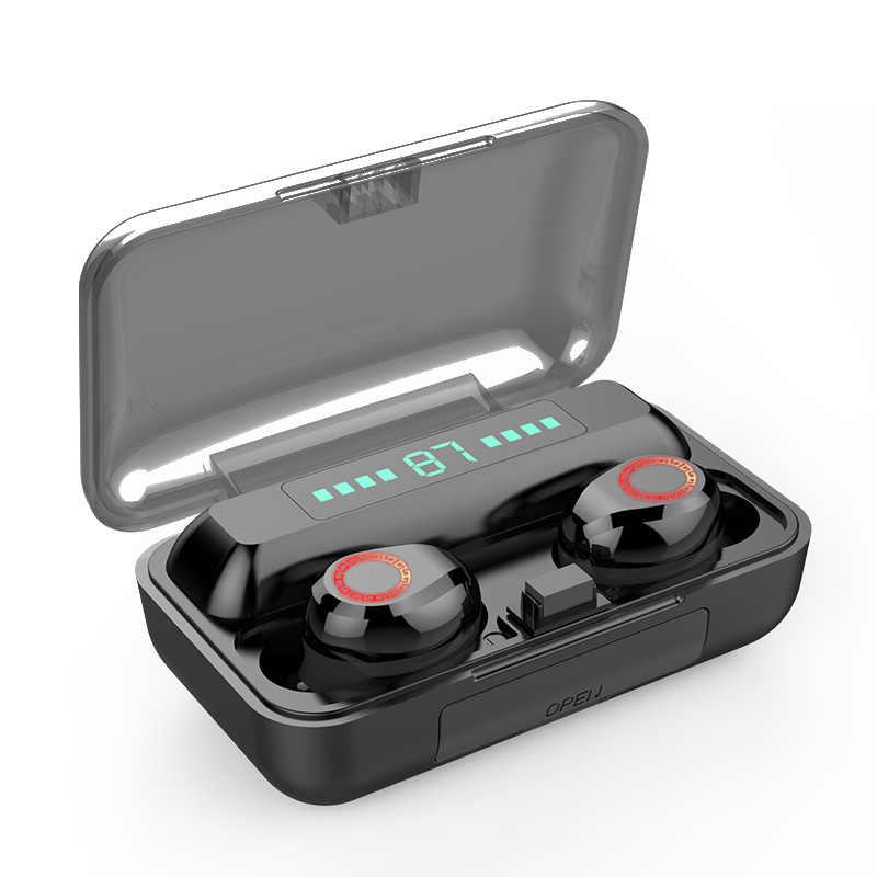 Bluetooth V5.0 Koptelefoon Draadloze Hoofdtelefoon Met Microfoon Sport Waterdichte Headsets 2200 Mah Opladen Doos Voor Ios Android
