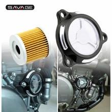 Motorcycle Engine Oil Filter Cover For SUZUKI DRZ400SM Accessories DRZ 400 SM S E 2005 2020 LTZ 400 Parts LTR 450 2006 2009 Moto