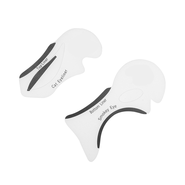 2pcs Eyeliner Stencil Cat Eye Fish Tail Double Wing Eyeliner Stencil Models Template Shaping Tools Eyebrows Template Card DIY 1