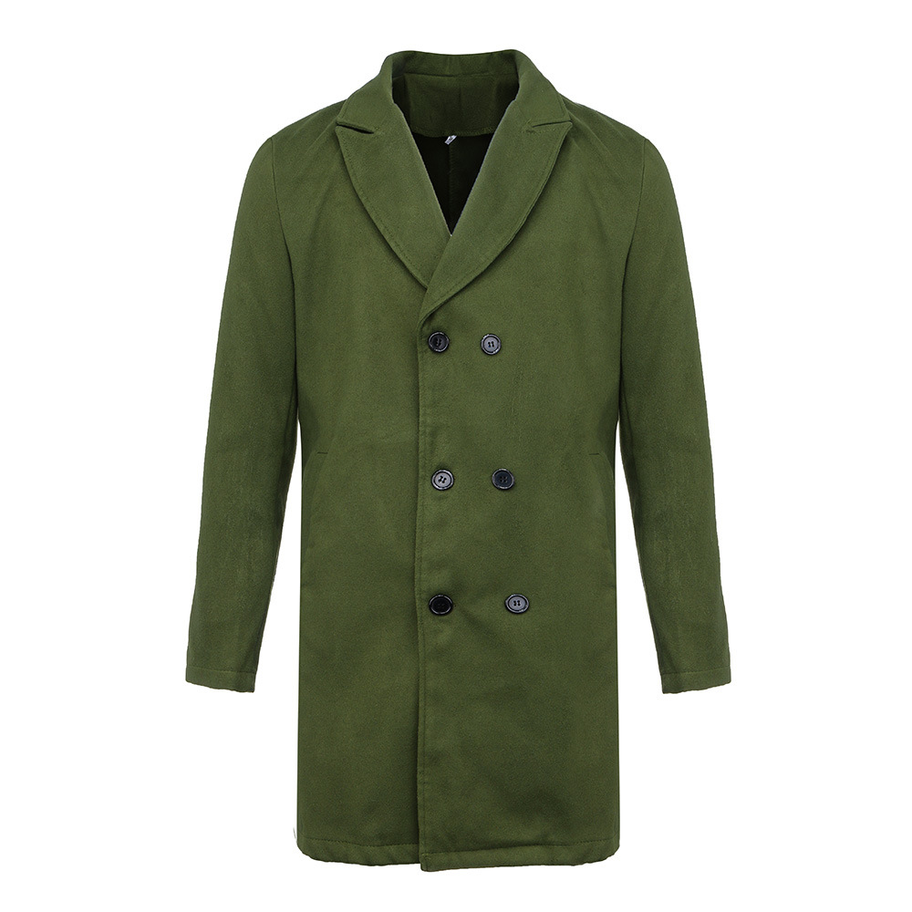 inverno quente estilo coreano cavalheiro de lã