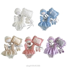 5Pcs Baby Lace Dress+Hat+Pillow+Shorts+Shoes Set Photo Shooting Costume Outfits Newborn Photography Props O27 20 Dropshipping