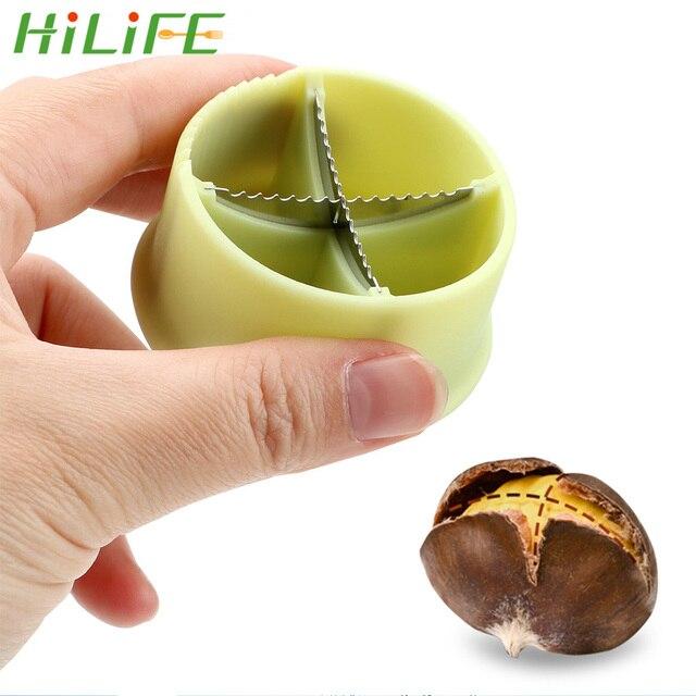 HILIFE Nut Cracker Sheller Chestnut Cross Open Knife Quick Chestnut Cutter Nut Opener Sheller Walnut Pliers Kitchen Gadgets
