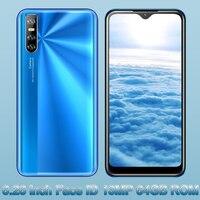 Pantalla gota de agua 10X de 6,26 pulgadas, 4GB de RAM, 64GB de ROM, cámara de 13mp HD, identificación facial, Quad Core, teléfonos móviles desbloqueados MTK Android