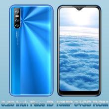 10X 6.26 inç su damlası ekran 4GB RAM 64GB ROM 13mp HD kamera yüz kimliği dört çekirdekli cep telefonları için MTK Android akıllı telefonlar