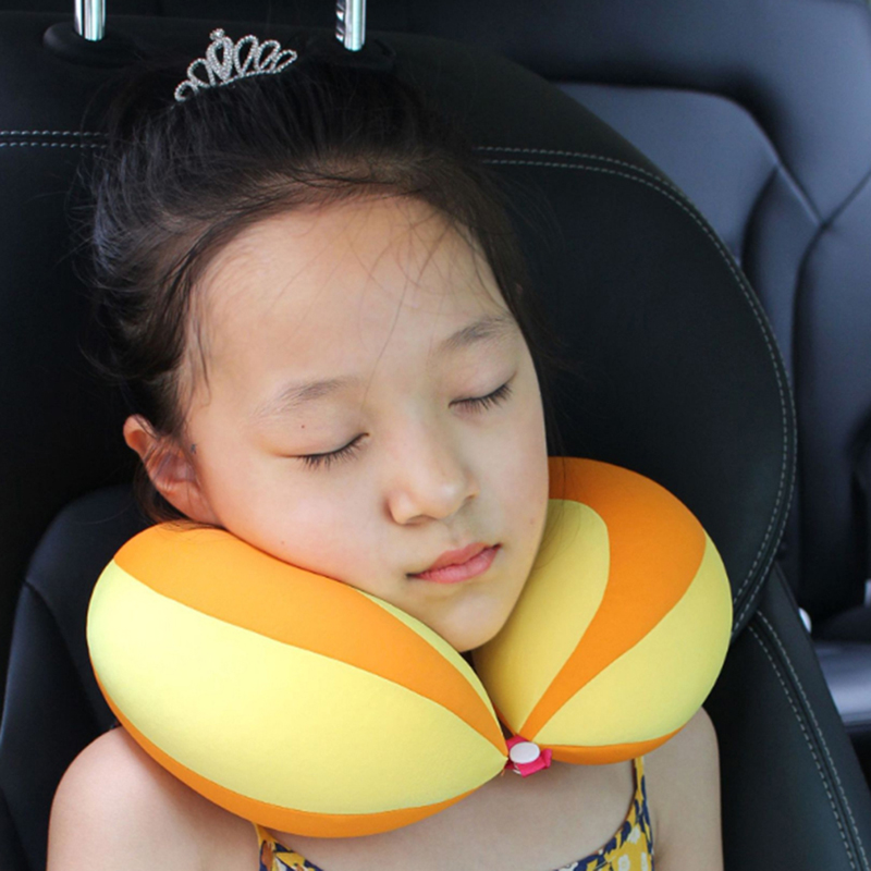 Baby U-shaped Pillow Pad Car Auto Safety Seat Pillow Protector Anti Harness Roll Pad Sleep Pillow For Kids Toddler Pillow