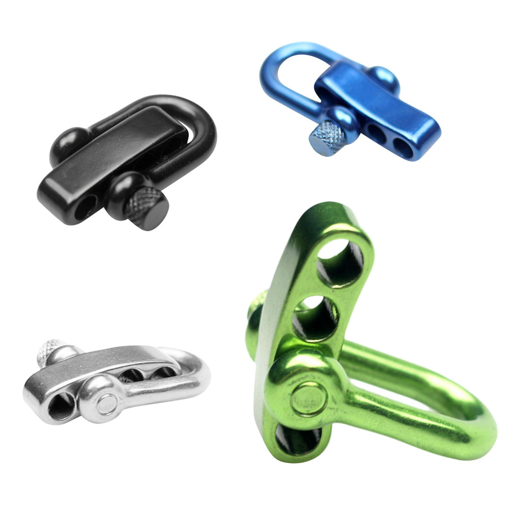 Heavy Duty 304 Stainless Steel U Flat Adjustable Shackle Buckle Clasp for Survival Paracord Bracelet - Various Color