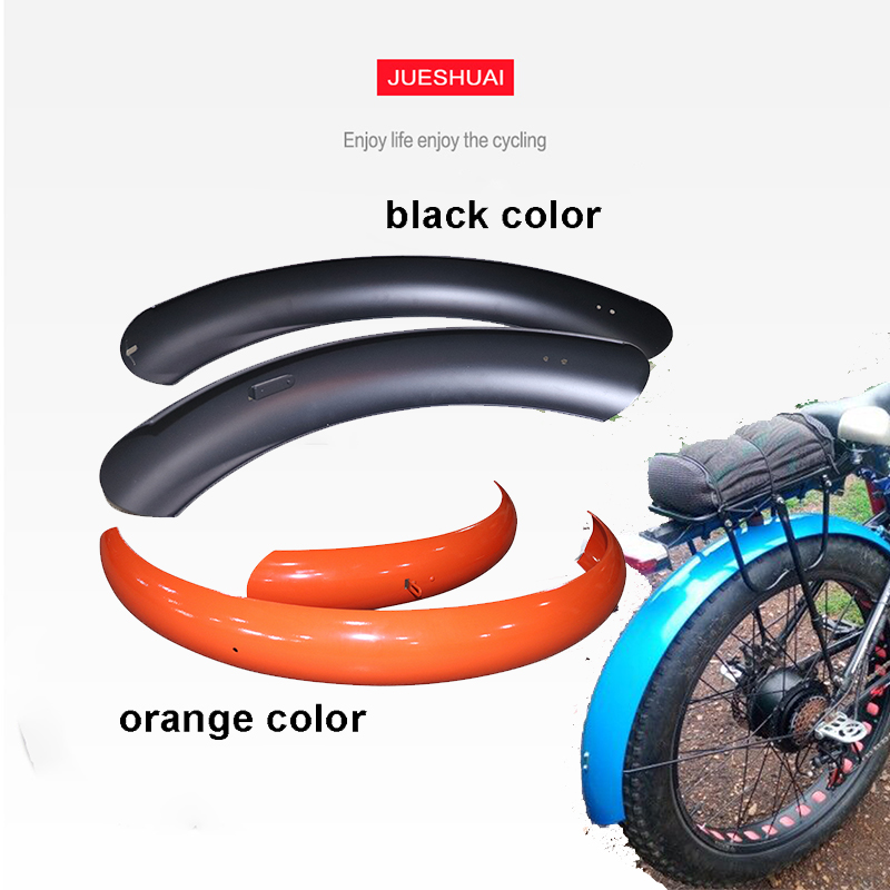 """26""""4.0 Fat Bike Colorful Mudguard Fender Guard for Electric Bicycle Kit MTB Moutain Bike Accessories Fender Bracket Wing Parts