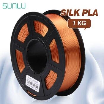 SUNLU Plastic PLA Silk 3d Filament 1.75MM 3d Printer Filament 1kg Silk PLA 3D Printing Material цена 2017