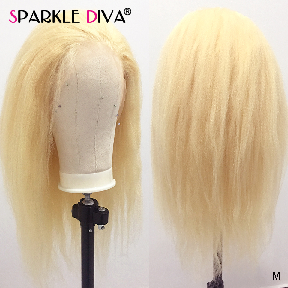 Glueless 613 Blonde Lace Front Human Hair Wigs Kinky Straight Brazilian Lace Wig 150 Remy Hair 13x4 Honey Blonde Lace Front Wig