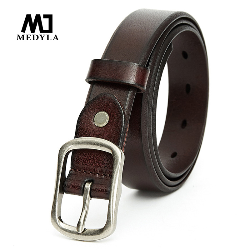MEDYLA2019 New Ladies Belt Fashion Wild Leather Belt Simple Casual Women's Belt Length To 120cm