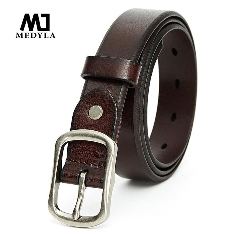 MEDYLA2019 New Ladies Belt Fashion Wild Leather Belt Simple Casual Women's Belt Length To 120cm