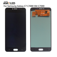 AMOLED LCD For Samsung Galaxy C7 C7000 SM-C7000 LCD Display Touch Screen Digitizer Assembly Replacement ForSamsung C7 Screen LCD