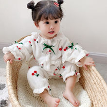 Autumn and winter baby clothes thickened  warm romper newborn