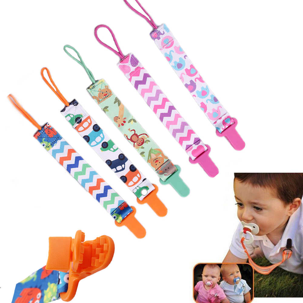 dummy clips set 4 pieces woven anti-off dummy chain cotton dummy nipple holder for baby child dummy chain Amorar dummy clip babies