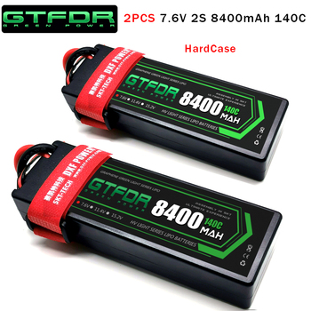 DXF Lipo battery 2S 7.4V 7.6V 5200mAh 6200mAh 6500mAh 8400mAh 100C 200C 140C 280C HardCase For RC 1/8 Parts  Buggy Cars truck gtfdr 2pcs 2s lipo battery 7 4v 7 6v hv 8400mah 7000mah 6200ma 5200mah 140c 280c 100c 200c 60c 120c 4mm for 1 8 1 10 road rc car