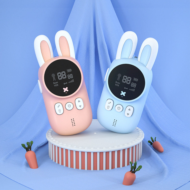 Walkie Talkie Kids Walkie-talkies 2 pcs Mini Two-Way Radio Station PMR Children Gift/Family Use/Camping 1-3kM