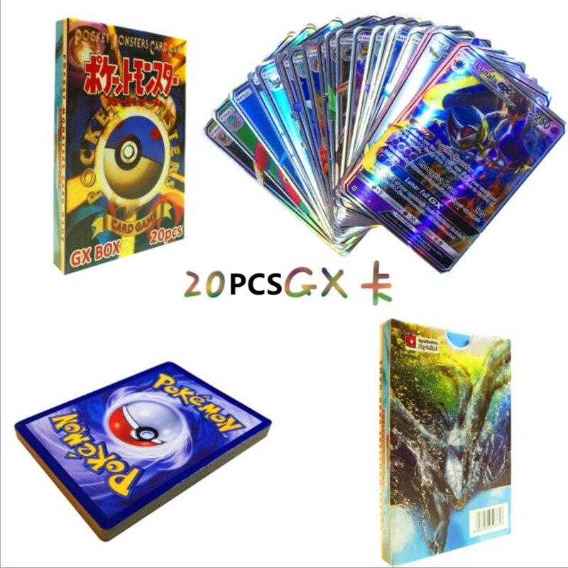 300 шт GX 20 60 100 шт Мега Сияющие карты игра битва карт торговые карты игра детская игрушка «Покемон» - Цвет: 20pcs GX