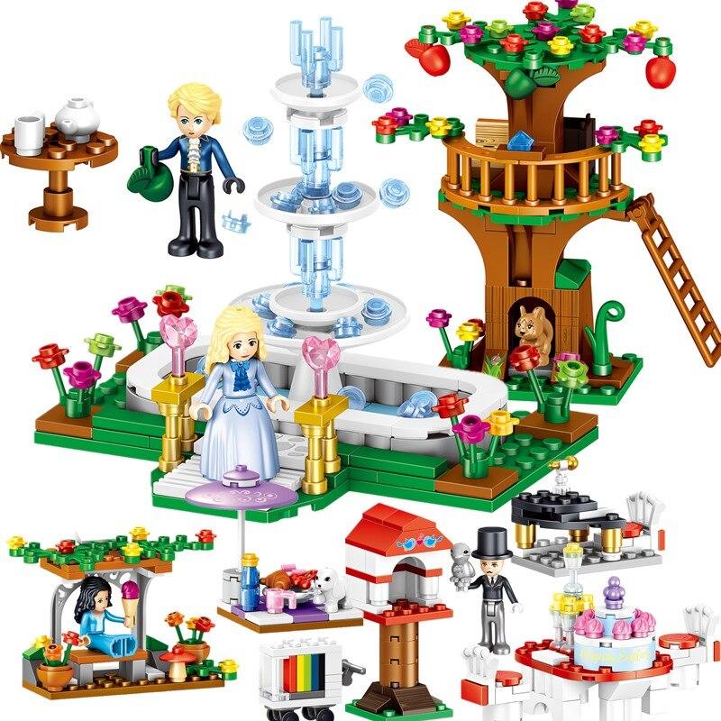 436pcs 4 коробки для девочек серии Принцессы Виндзорский Замок образовательные строительные блоки игрушки принцесса Небесно аксессуары QL1101|Игрушечные кубики| | АлиЭкспресс