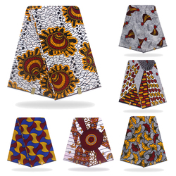 아프리카 직물 왁스 인쇄 네덜란드 왁스 헝겊 100% 코튼 소재 6 야드 아프리카 앙카라 도매 면화 왁스 원단 드레스