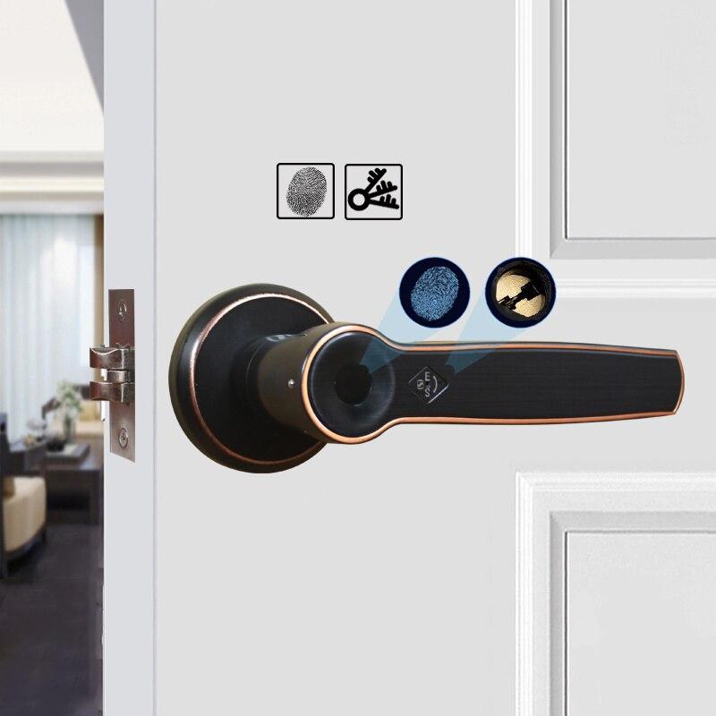 Obawa fechadura da porta de impressão digital biométrica fechadura inteligente com código digital ic cartão desbloquear fechadura da porta eletrônica interna - 2