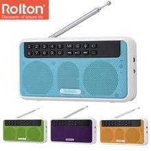 Rolton E500 Drahtlose Bluetooth Lautsprecher 6W HiFi Stereo Musik Player Portable Digital FM Radio Taschenlampe Mic Hände freies rekord TF