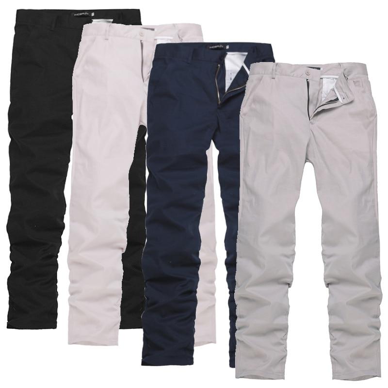 Mode Männer Hosen Taste Casual Einfarbigen Freizeit Chinos Hosen Männer Streetwear Casual Business Lange Pfannen Männer Gerade Hosen