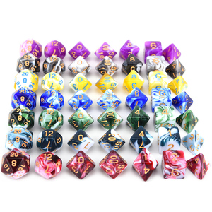 7pcs Dice Set Mixed Color Polyhedral DnD Dice for RPG DND Role Playing Game Dice Set(China)