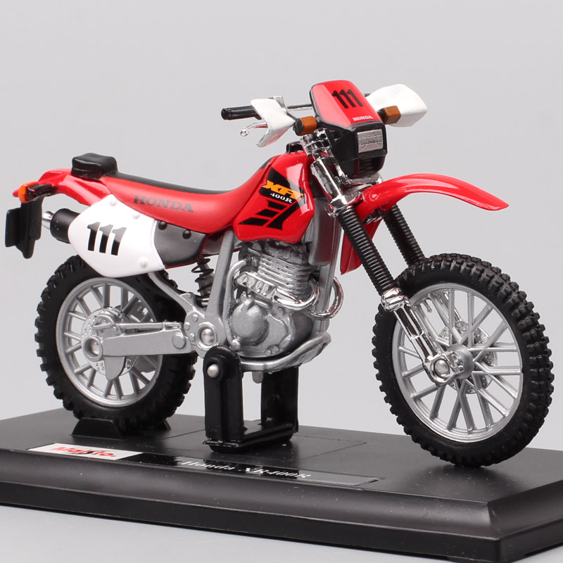 Children 1:18 Scale Maisto Mini Honda XR400R Dirt Rider Bike Diecasts & Toy Vehicles Motocross Motorcycle Model Toy Replicas Boy