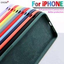 Original silicone líquido caso de luxo para apple iphone 11 12 pro max mini 7 8 6s plus xr x xs max se 128g à prova de choque caso capa