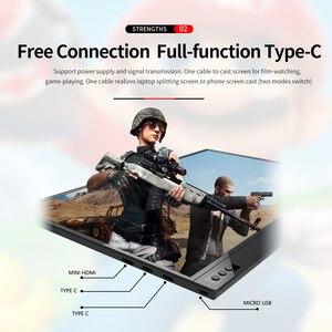 Image 4 - T bao المحمولة رصد توسيع الشاشة 1920x1080 HD IPS 15.6 بوصة عرض شاشة LED مع حقيبة جلدية ل PS4 Xbox
