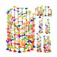 105PCS DIY Track Gebäude Rohr Blöcke Für Kinder Ball Schaltung Marmor Rennen Run Labyrinth Kugeln Pädagogisches Spielzeug Geschenk Duploe blöcke