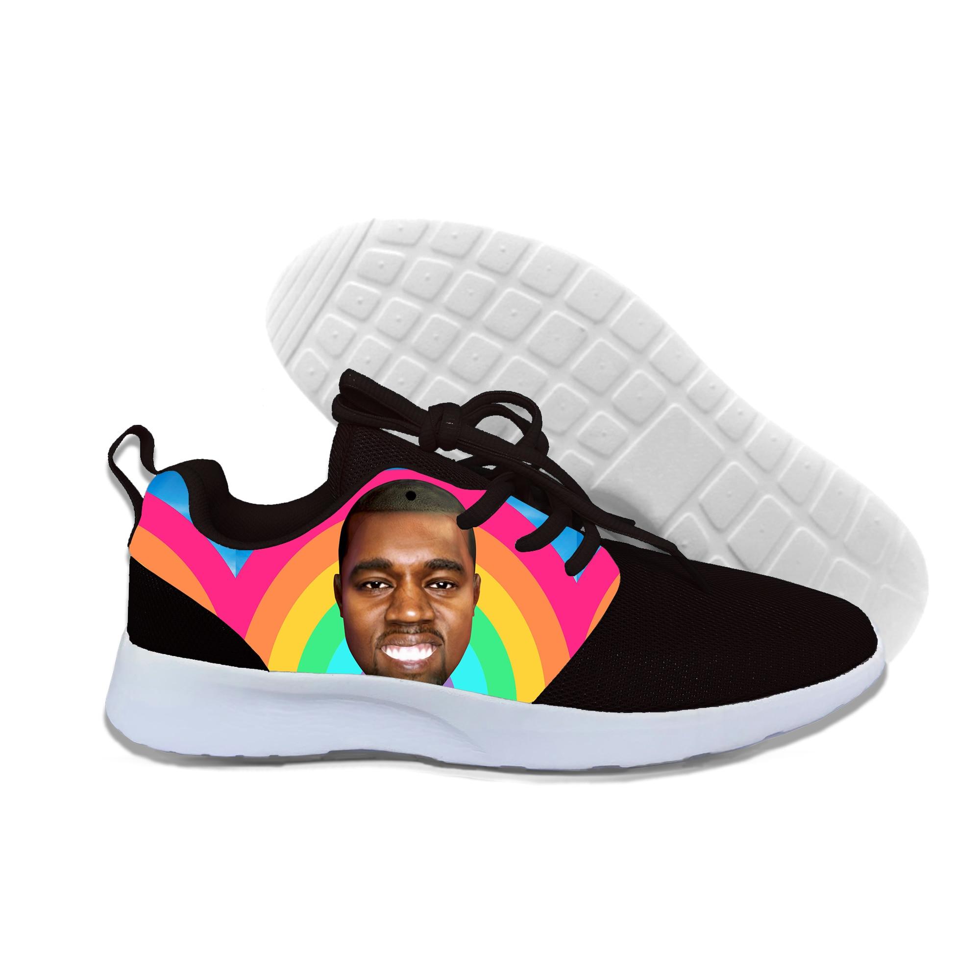 2019 été nouveaux hommes femmes 3D impression rappeur Kanye Omari West Sneakers décontracté chaussures légères