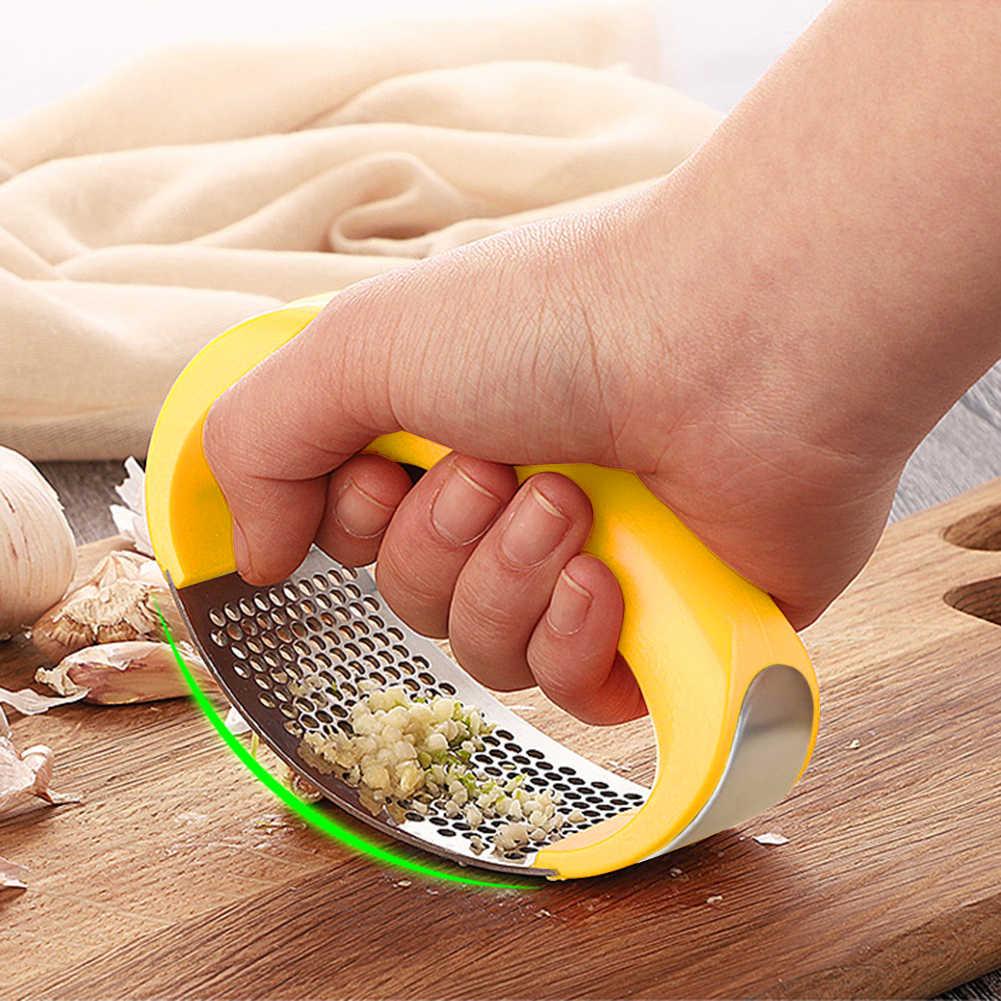 มือกระเทียมกดเครื่องมือสแตนเลสสตีลขิงกระเทียม Chopper Crusher โลหะเครื่องตัดกระเทียมครัวทำอาหาร Gadgets