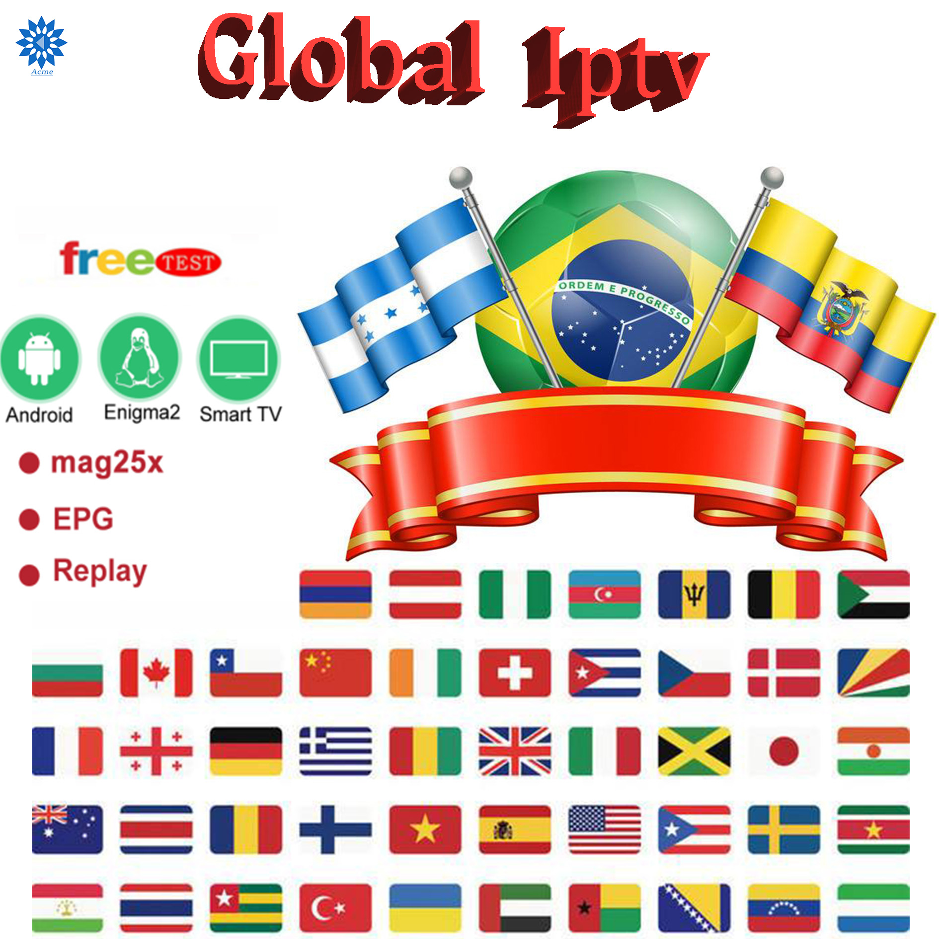 World IPTV 7500 Live 6800 VOD FHD Channel Best For Europe Arabic Asian Africa Latino America Android M3U IPTV Subscription Code