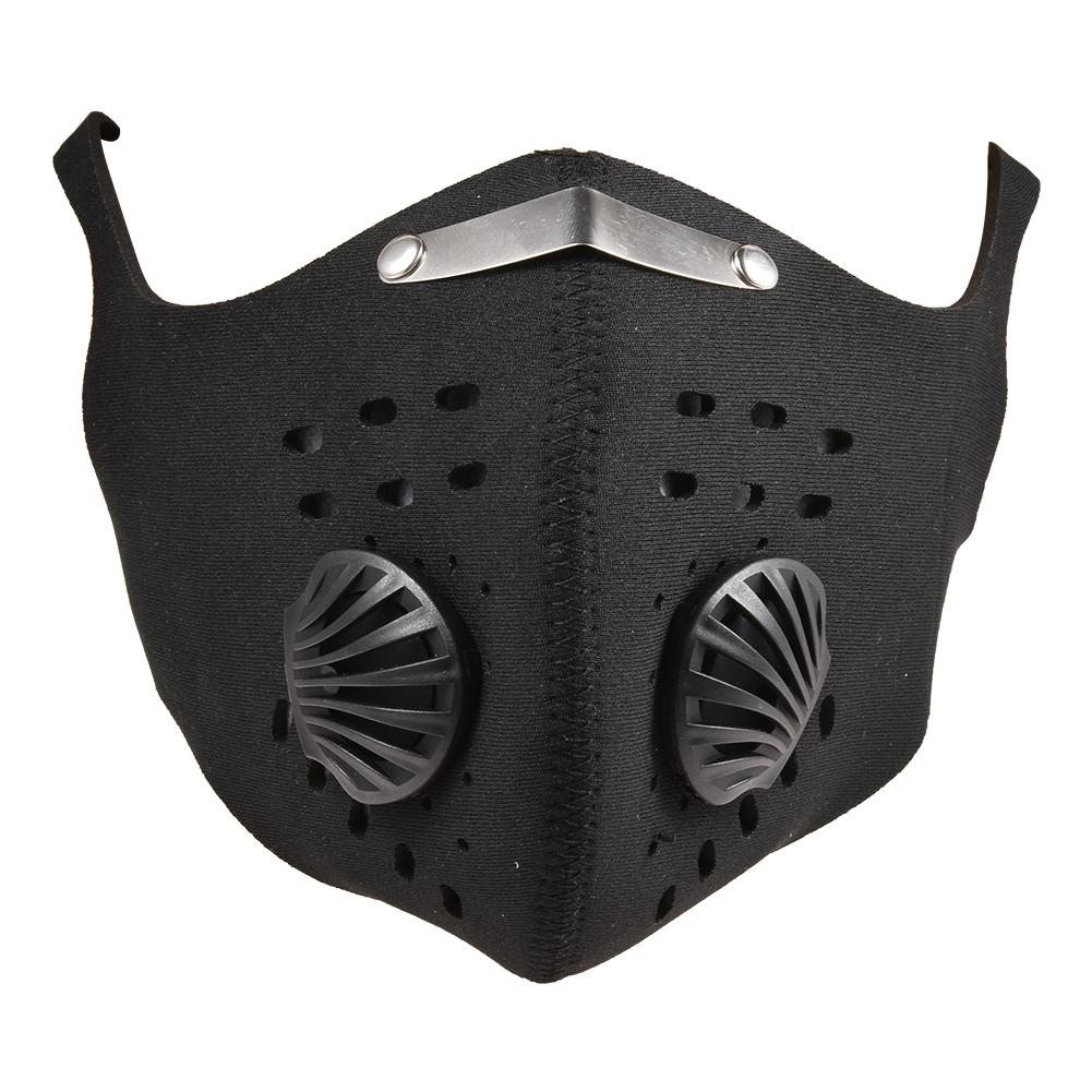 PM2.5 Cycling Mask Double-valve Breathable Dust Protection Face Mouth Cover For Outdoor Cycling Hiking
