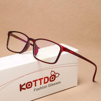 KOTTDO Vintage Square ramki okularów korekcyjnych dla mężczyzn moda klasyczne plastikowe oprawki do okularów ramki okularów kobiet 2020 tanie i dobre opinie Unisex Z tworzywa sztucznego CN (pochodzenie) Stałe 2460 FRAMES Okulary akcesoria