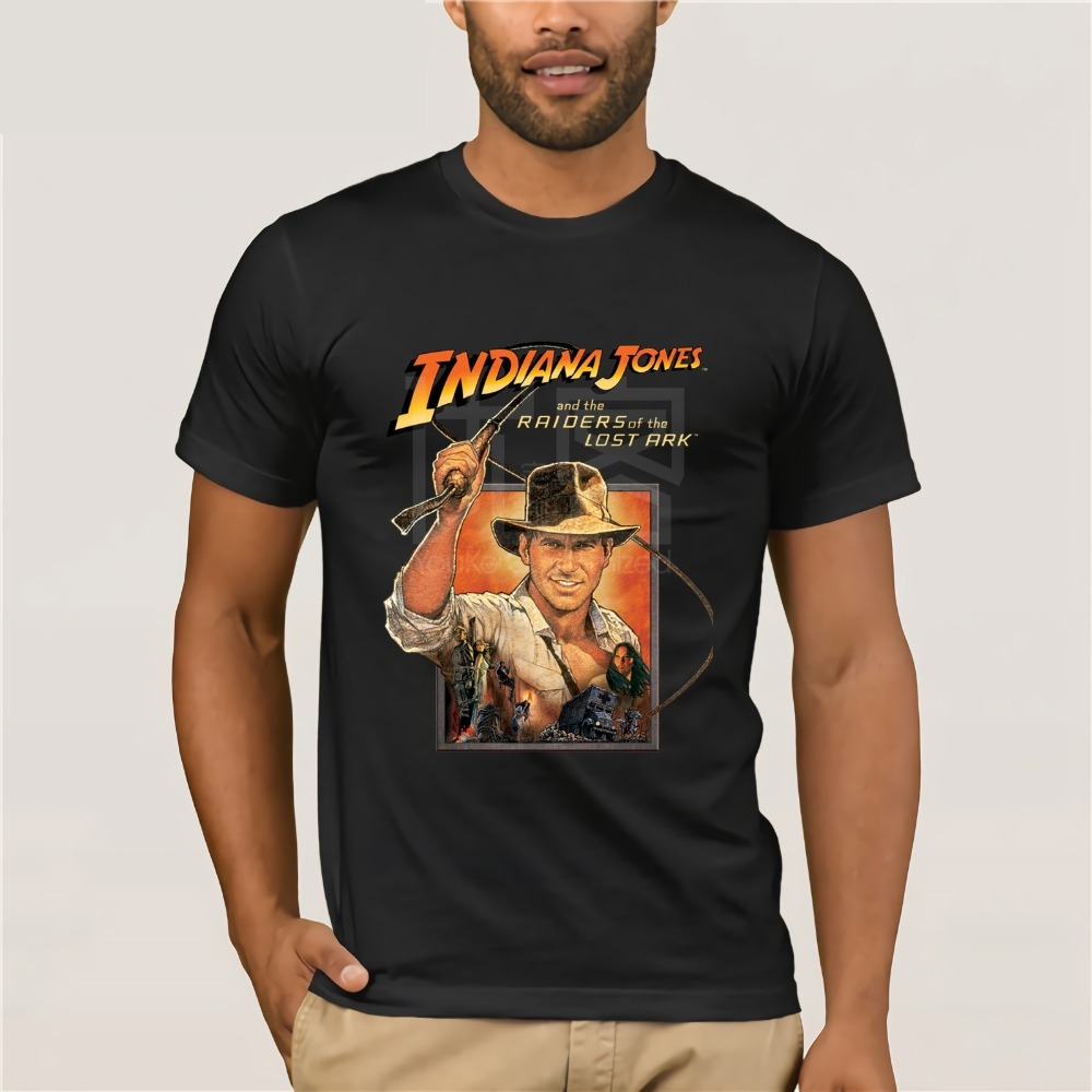 Indiana Jones Raiders Of Lost Ark Mens Casual Summer Short Sleeve Round Neck Tee Shirt S-3XL