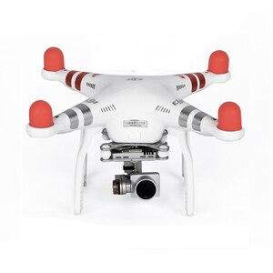 Image 2 - 4 шт. Пылезащитная крышка двигателя дрона защитный чехол для DJI Phantom 2 Pro 4A 3A 3P 3S SE 4 силиконовый чехол защитные аксессуары