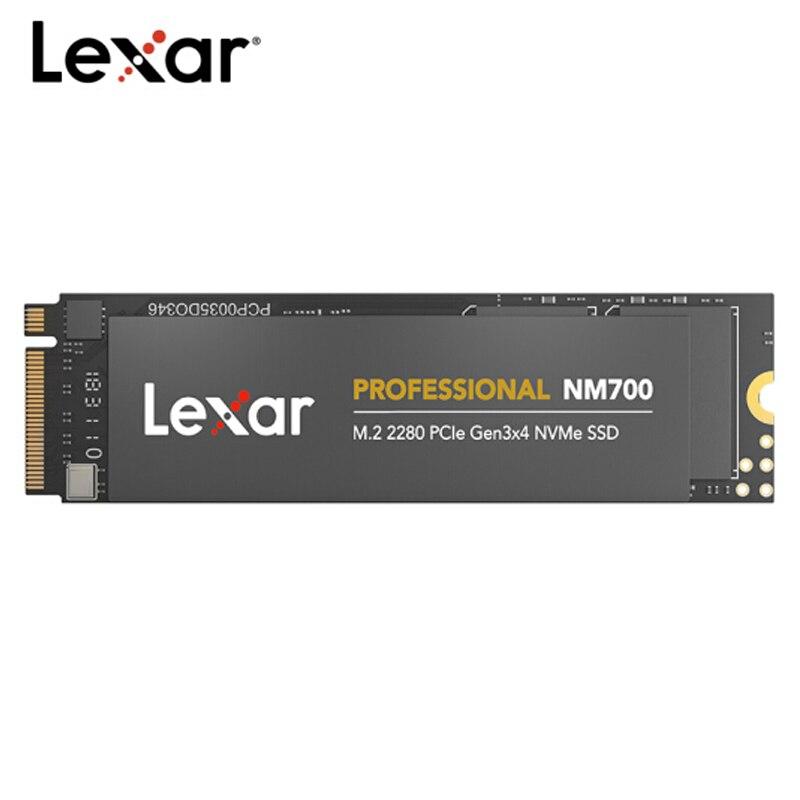 100% Original Lexar NM700 1TB 512GB 256GB SSD NVMe PCIe Gen3x4 M.2 2280 TLC HDD Internal Solid State Drive Laptop
