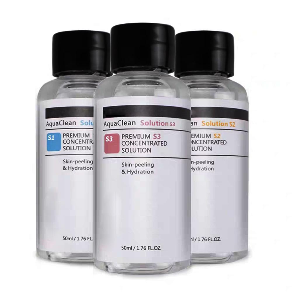 Nova solução limpa aqua peeling solução 50ml aqua soro facial hydra para hidro dermabrasion máquina de cuidados com a pele