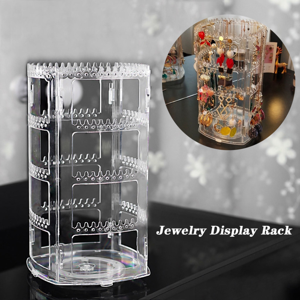 Tiered Round Rotating Jewelry Display 18 pairs of earrings Display Stand With Jewelry Replay earring store counter kit wholesale earrings