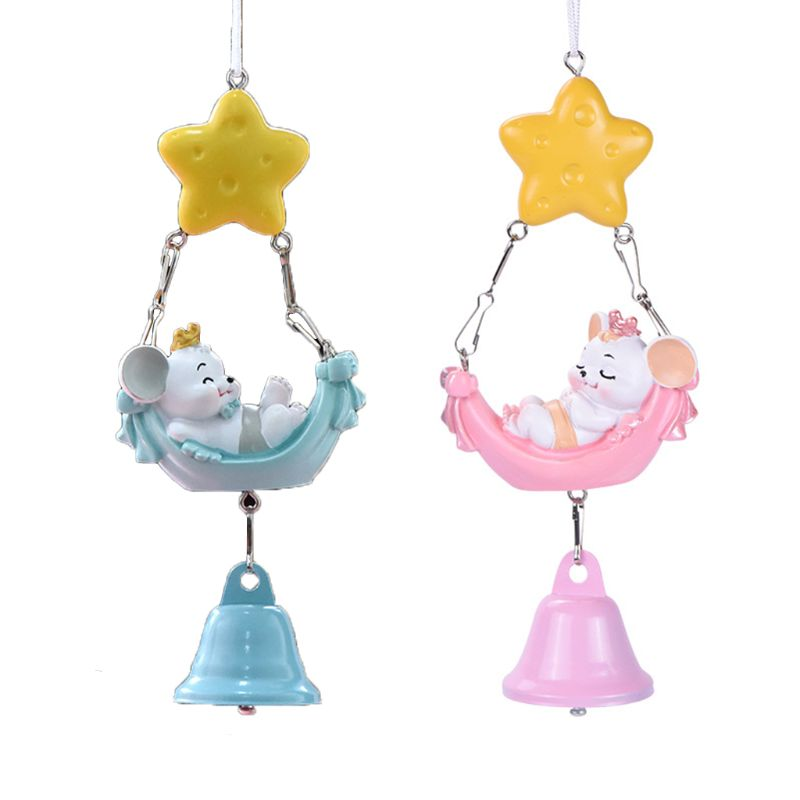 Mini Cute Mouse Wind Chime Bell Window Desktop Decoration New Year Home Ornament Cute mouse design